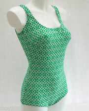 STYLISH 60's VINTAGE CLASSIC FITTED LADIES SWIMMING COSTUME SWIMSUIT 12 - 14 NEW