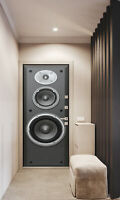 3D Large speaker Door Mural Stickers Self Adhesive Peel and Stick Wallpaper