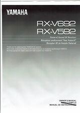 Yamaha  Bedienungsanleitung user manual owners manual  für RX- V 592 / 692 engli