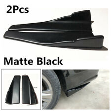2X 35cm Anti-crash ABS Car Bumper Spoiler Rear Lip Angle Splitter Diffuser Wings