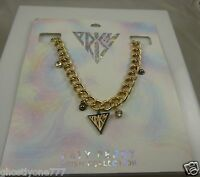 Katy Perry Prism necklace goldtone bling thick chain