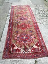 Tappeto persiano corsia HAMADAN annodato a mano LANA 334x120 cm 4mq certificato