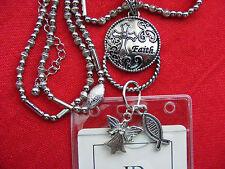 Cross Faith Fish Angel Charm ID Badge Name Tag Key Card Holder Necklace Lanyard
