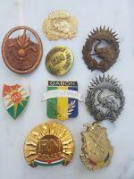 Lot 9 insignes de Béret Afrique police Commando Gendarmerie