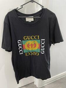 Gucci Genuine Authentic Black Logo T Shirt Size M