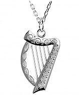 Keltische Harfe Silber 925 mit  Zirkonen