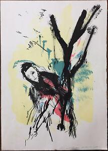 ERNESTO TRECCANI litografia a colori RAGAZZA 70x50 firmata numerata