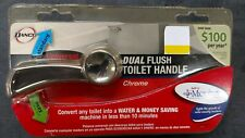 DANCO DUAL FLUSH TOILET HANDLE - CHROME  10071 MICROBAN FREE SHIPPING!