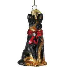 Kurt Adler Noble Gems Glass German Shepherd Dog Christmas Tree Ornament