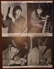 Set of 4 Beatles Fan Club Photo Albums  Extremely Rare!  John/Paul/George/Ringo