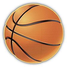 """Basketball Sport Ball Car Bumper Sticker Decal 5"""" x 5"""""""