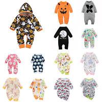 Newborn Infant Baby Boy Girl Cotton Romper Bodysuit Jumpsuit Clothes Outfit Set