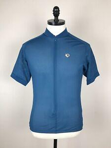Pearl Izumi Mens Technical Wear Cycling Jersey Blue Net Pockets Size M