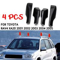 For 2001-2005 Toyota RAV4 XA20 4Pcs ABS Black Car Roof Rack Rail End Cover Shell
