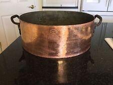 """Antique J. Y. Watkins & Sons Commercial Copper Cooking Pot LARGE 16"""""""