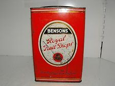 Rare Vintage Bensons Confectionery Ltd Royal Fruit Drops Tin in As Is Condition