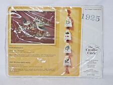 NOS The Creative Circle 1925 kitchen spice sacks 0326 Sandpipers embroidery kit
