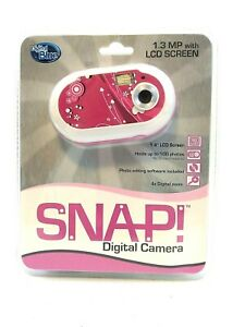 Digital Blue Snap Digital Camera Holds up to 40 Photos Brand New Pink Sealed USB