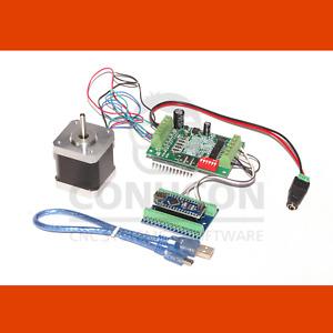 CNC USB 1D Schrittmotor Steuerung Controller Set NEMA 17 2,5A mit Software LaGER