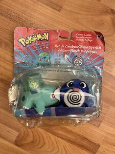 Rare Pokemon Battle Playset Bulbasaur Poliwag Applause Hasbro Nintendo Plush Toy