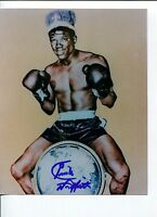Emile Griffith Boxing Champ World Middleweight Champ HOF Signed Autograph Photo