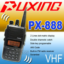 New Puxing PX-888 D VHF 136-174MHZ + Earpiece + Car cable