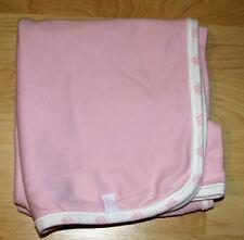 Rocawear Roca Wear Pink White RW Baby Girls Lightweight Blanket Cotton Lovey