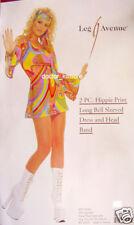 HIPPY costume BELL SLEEVES 60's 70's FANCY DRESS S/M