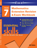 EXCEL YEAR 7 MATHEMATICS  EXTENSION  REVISION AND EXAM WORKBOOK 9781740203159