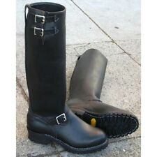 "Wesco Boss 18"" Black Leather Lined Boots"