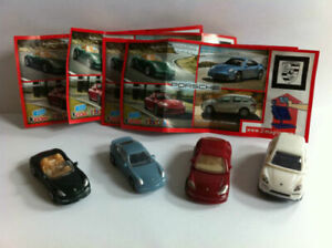 PORSCHE COMPLETE SET OF 4 WITH ALL PAPERS (DC065 - DC068) KINDER SURPRISE 2011