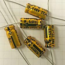 (5X) 22 uF 40vdc ~ 125 deg. C Electrolylic Capacitors Nos Matsushita ~ Japan