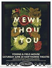 MEWITHOUTYOU / FOXING & FIELD MOUSE 2015 PORTLAND CONCERT TOUR POSTER