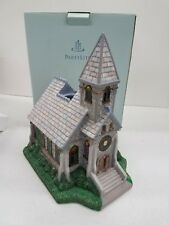 PartyLite The Church Olde World Village Tealight House Candle Holder NIB P7321