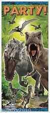 JURASSIC WORLD DOOR POSTER DECORATION ~ Birthday Party Supplies Dinosaur Movie