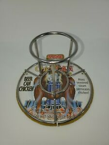 Bayou Classic Chick-Can Chicken Beer Can Stainless Steel Grilling Rack #0880