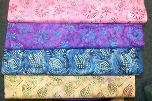 """Fabric Batiks by Nutex 100% Cotton 112cm (44"""") wide #37710 Pink Brown"""