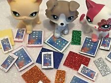 Littlest Pet Shop Clothes 2 PC LPS Accessories Phone Tablet CAT/DOG NOT INCLUDED