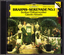 Claudio ABBADO: BRAHMS Serenade No.1 DG West Germany CD Berliner Philharmoniker