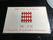Encart 2 euros Lucien Monaco 2012 frais de port gratuit en colissimo recommandé