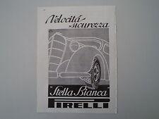 advertising Pubblicità 1936 PNEUMATICI PIRELLI STELLA BIANCA