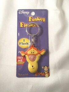 Disney collectibles Funkey Flashers Twinklers Tigger key chain older type