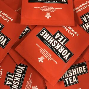 Yorkshire Tea Sachets - Individual Enveloped Tagged Tea Bags - 100% Black Tea