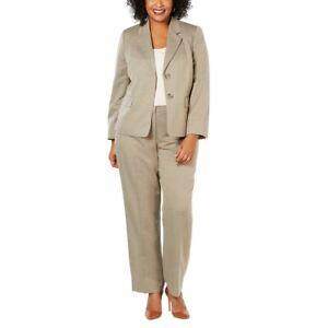 LE SUIT NEW Women's Plus Size Striped Two-button Pantsuit Two-Piece 18W TEDO