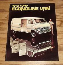 Original 1973 Ford Econoline Van Sales Brochure 73 E-100 E-200 E-300