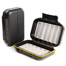 Maxcatch Waterproof Fly Box Large Flies Fishing Tackle Storage Black ABSPlastic.