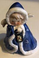 Angel w Lantern Blue Goebel Janet Robson 1958 Figurine Germany Christmas