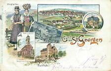Ansichtskarte St. Georgen 1898 Kirche Tracht Total  (Nr.777)