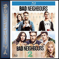 BAD NEIGHBOURS & BAD NEIGHBOURS 2 - 2 FILM COLLECTION  **BRAND NEW BLURAY**