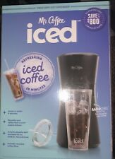 New! Mr Coffee Iced Coffee Maker w/ Reusable Tumbler & Filter - Black
